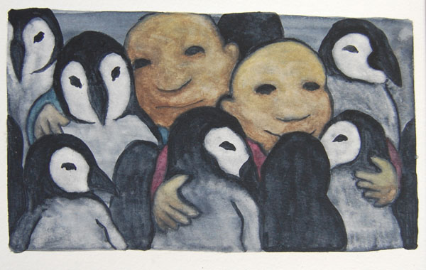 group hug-watercolour