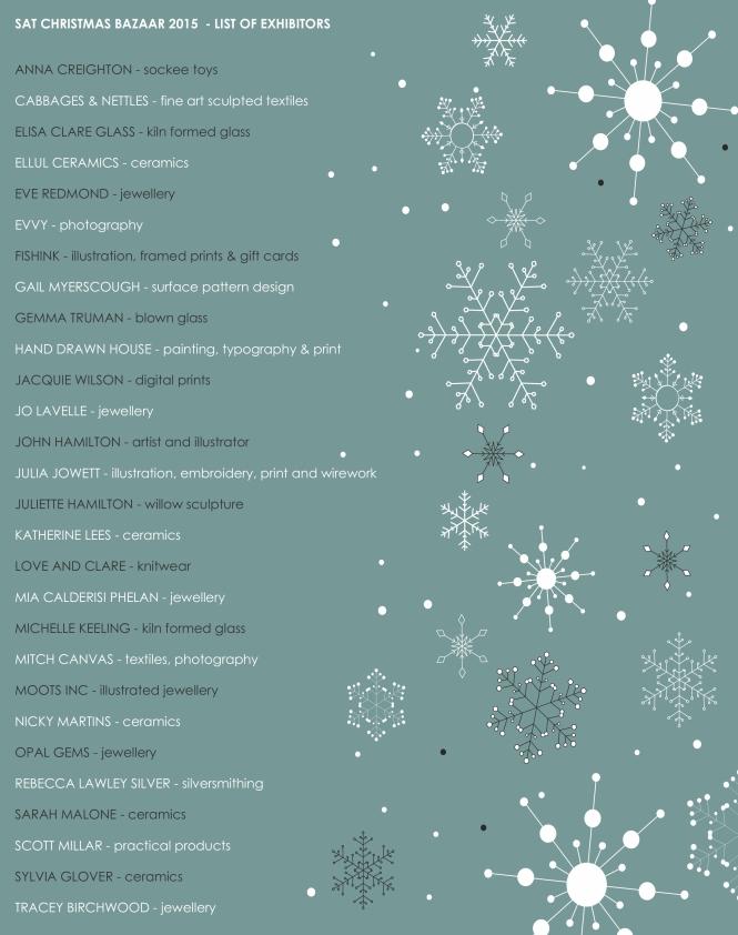 list of exhibitors - updated
